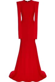 Alex Perry Satin Draped Gown - Front full body