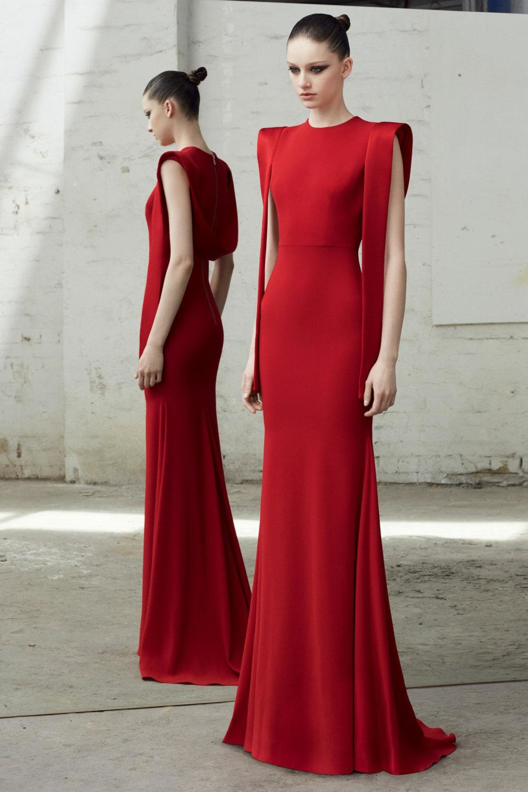 Alex Perry Satin Draped Gown - Main Image
