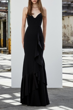 Alex Perry Satin Ruffle Gown - Alternate List Image