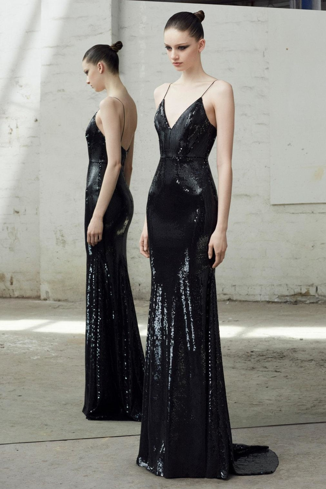 Alex Perry Sleeveless Sequin Gown - Main Image