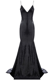 Alex Perry Sleeveless Sequin Gown - Front full body