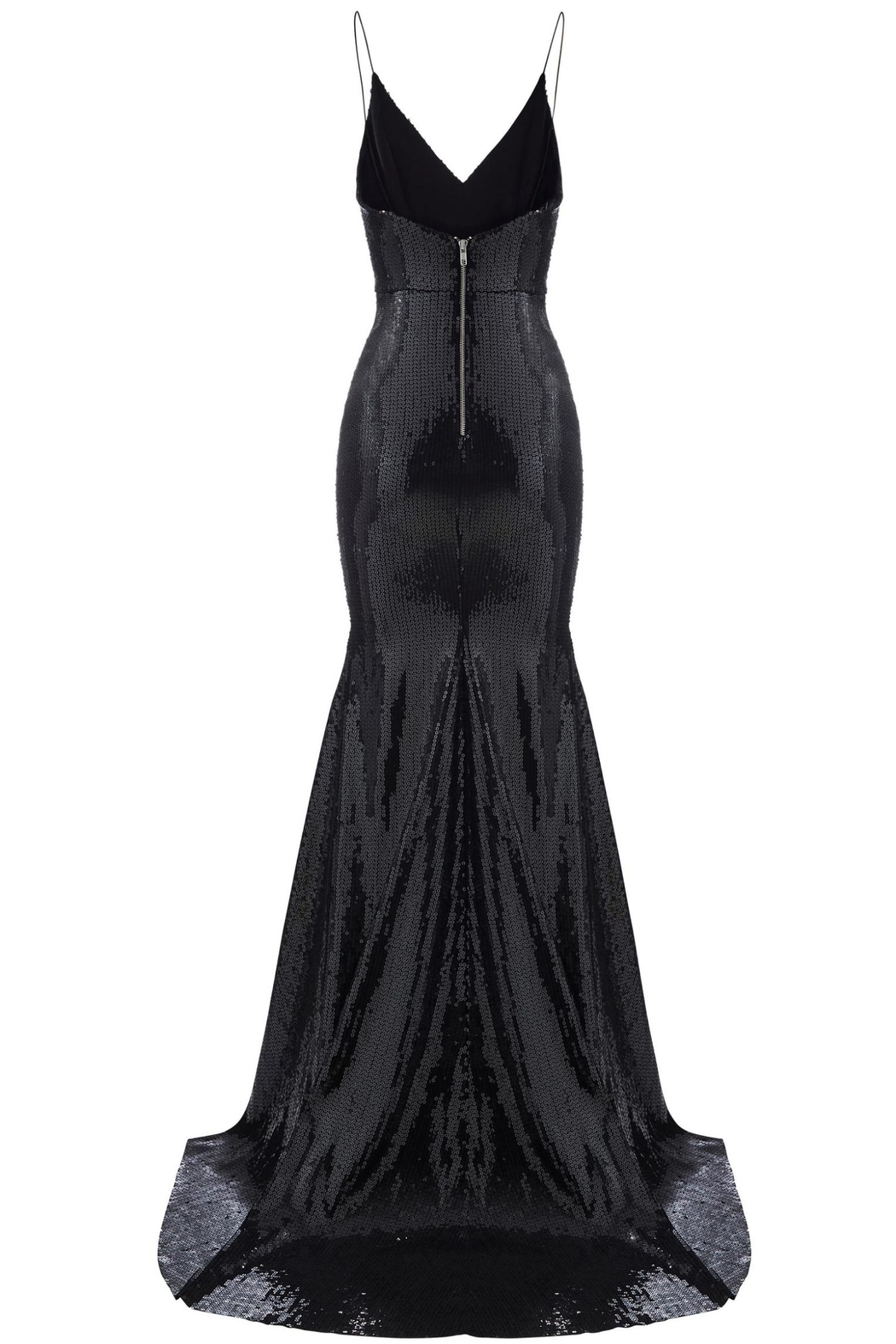 Alex Perry Sleeveless Sequin Gown - Side Cropped Image