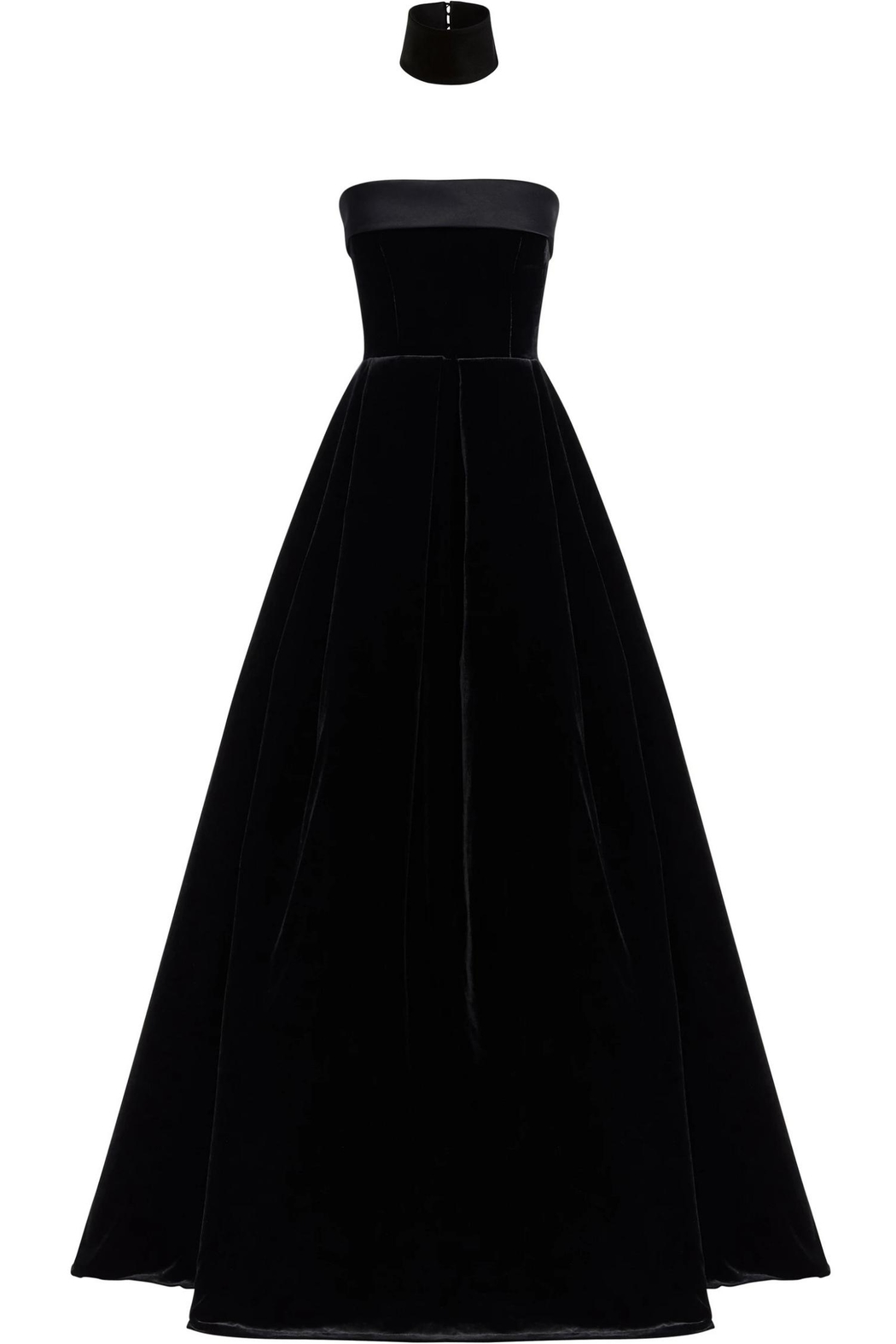 Alex Perry Strapless Velvet Gown - Front Full Image