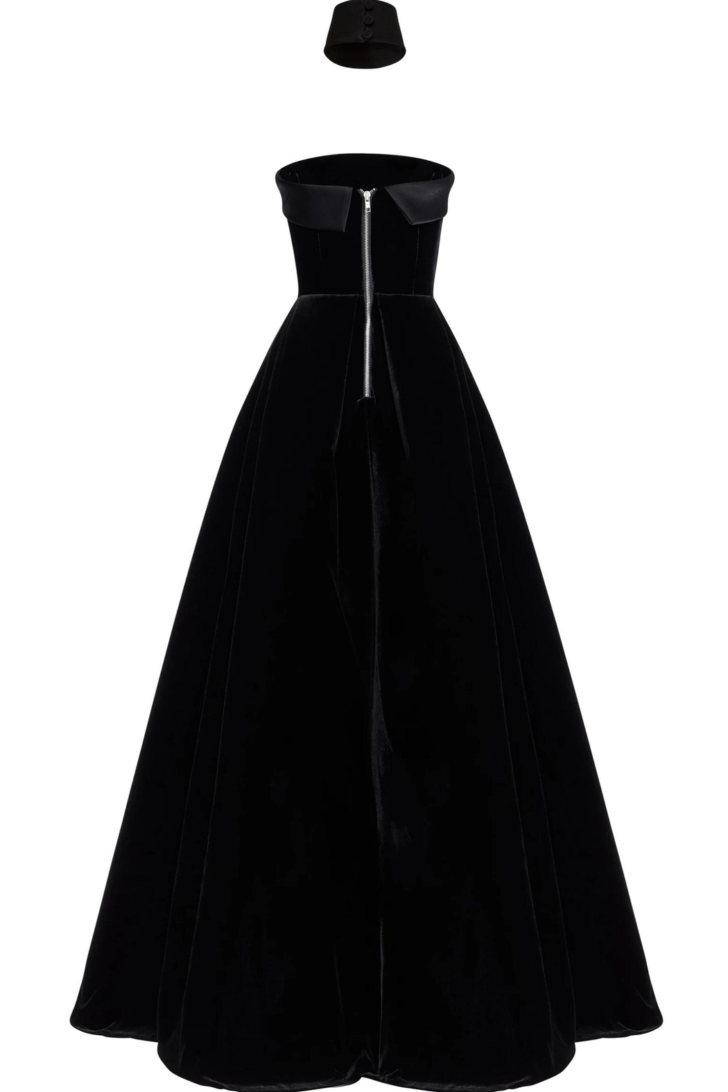 Alex Perry Strapless Velvet Gown - Side Cropped Image