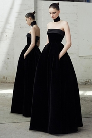 Alex Perry Strapless Velvet Gown - Product Mini Image