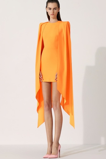 Alex Perry Tucker Cape-Sleeves Mini Dress from New Jersey by District 5 Boutique — Shoptiques