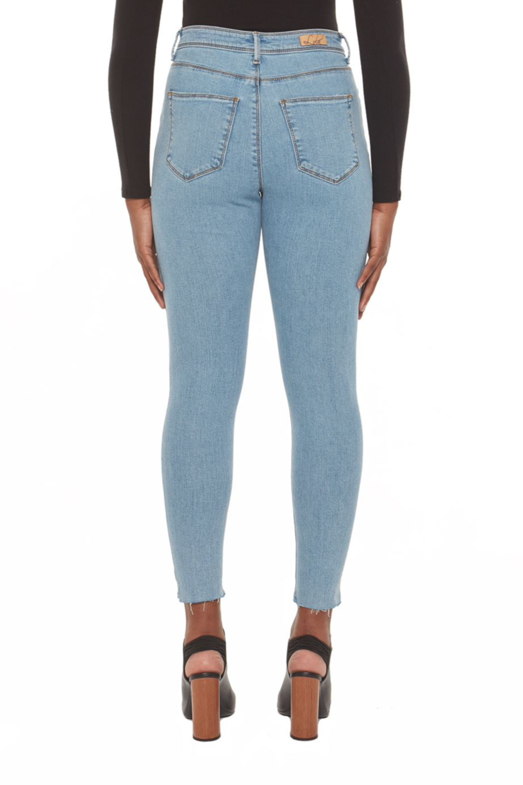 Lola Jeans Alexa Skinny High Rise Jeans - Side Cropped Image