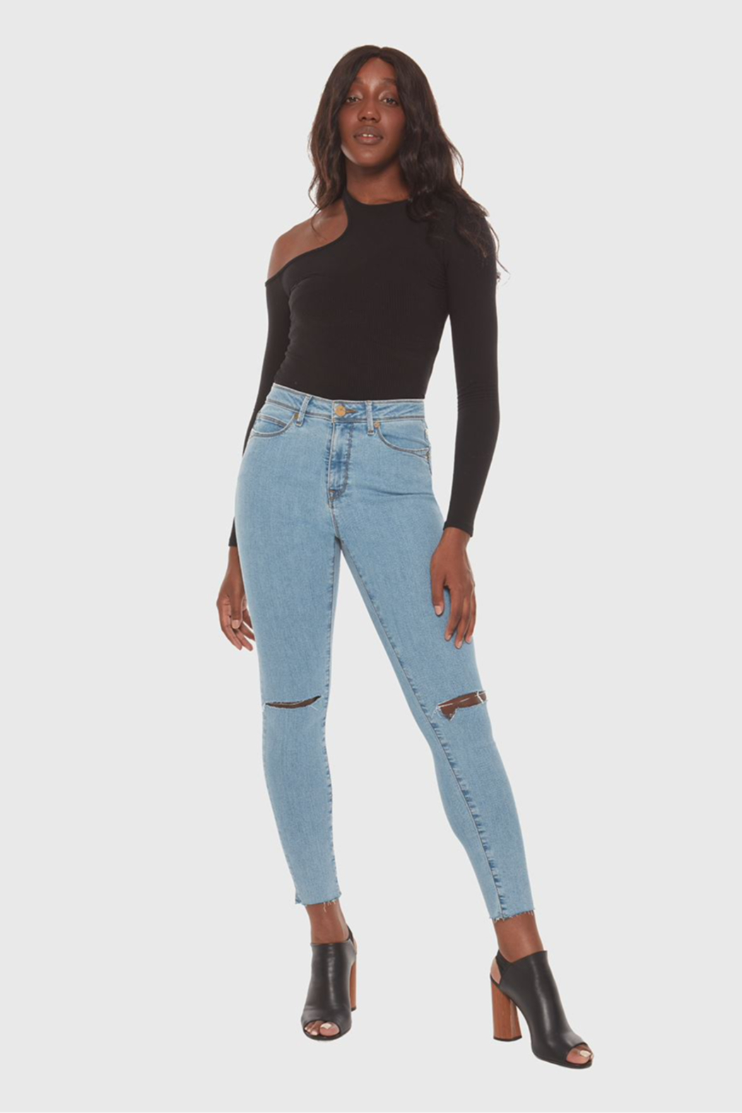 Lola Jeans Alexa Skinny High Rise Jeans - Back Cropped Image