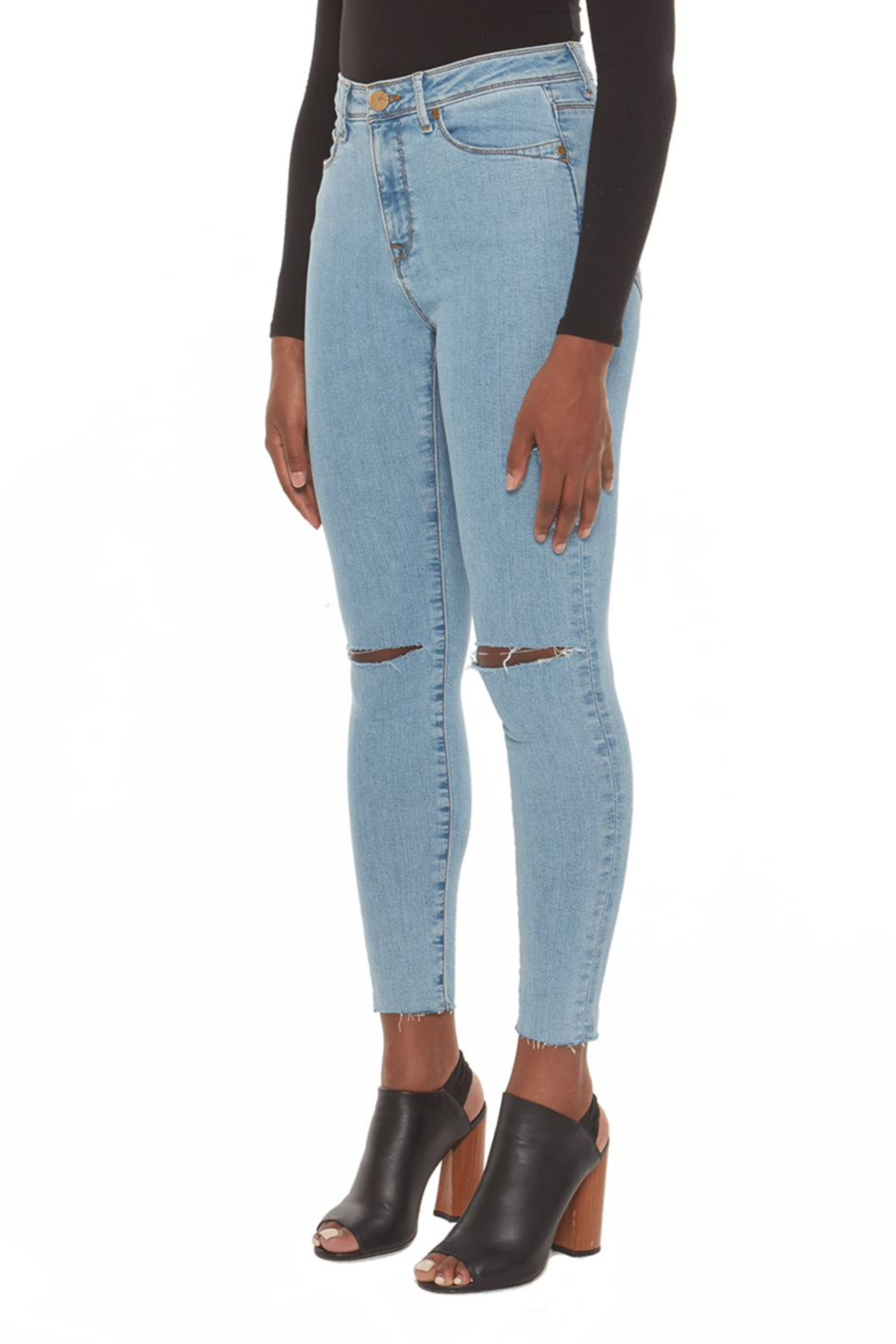 Lola Jeans Alexa Skinny High Rise Jeans - Front Full Image
