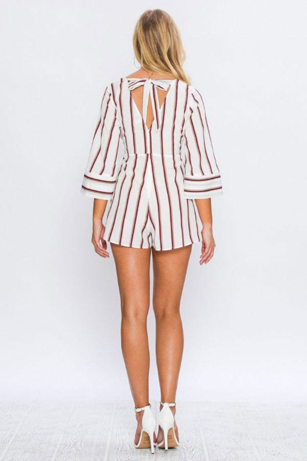 Flying Tomato Alexa Striped Romper - Side Cropped Image