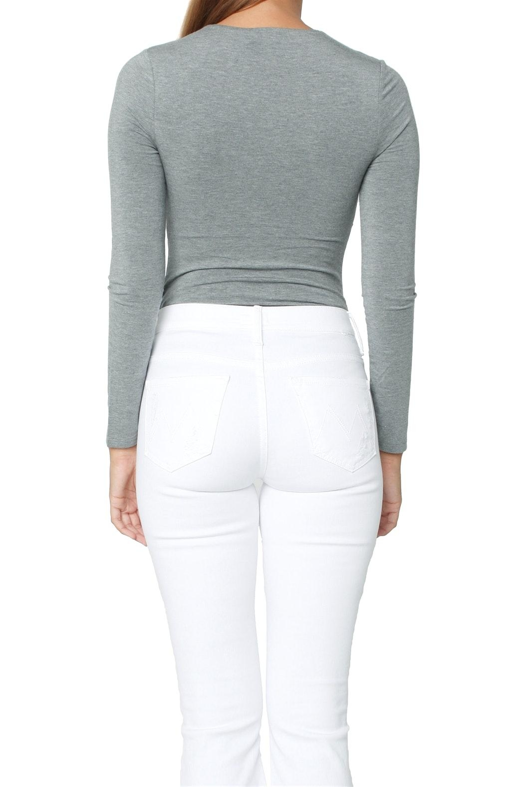Alexander wang Twist Front Bodysuit - Back Cropped Image
