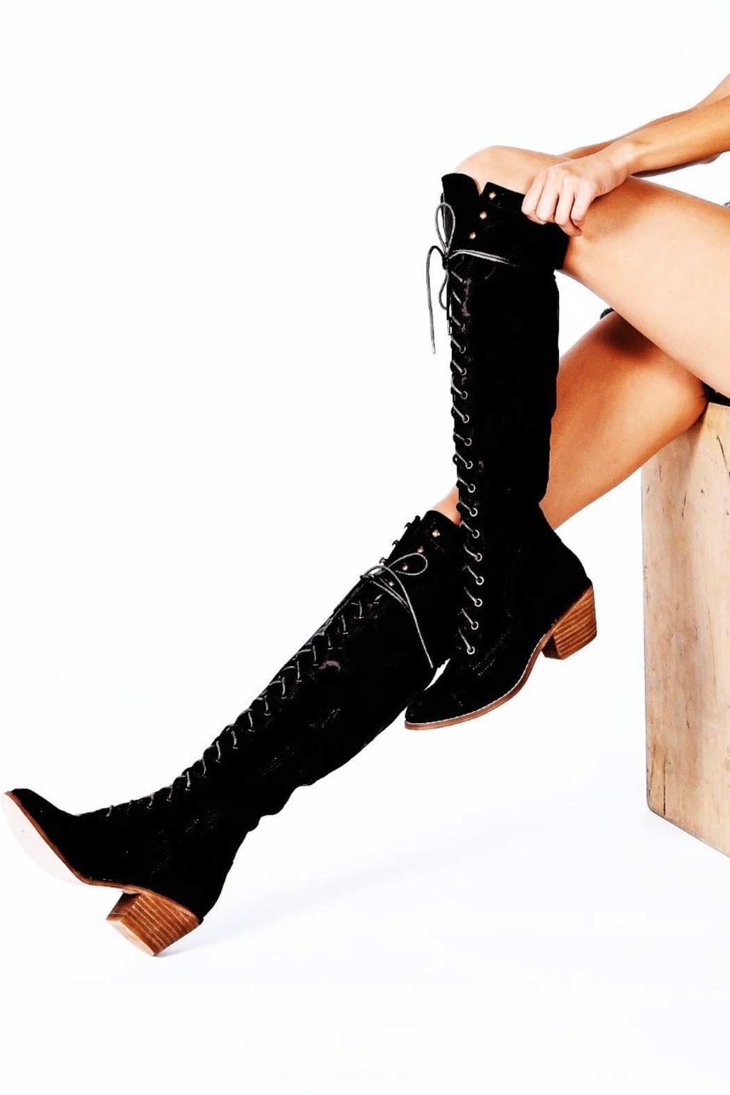 ALEXCINE Knee High Lace Up - Main Image