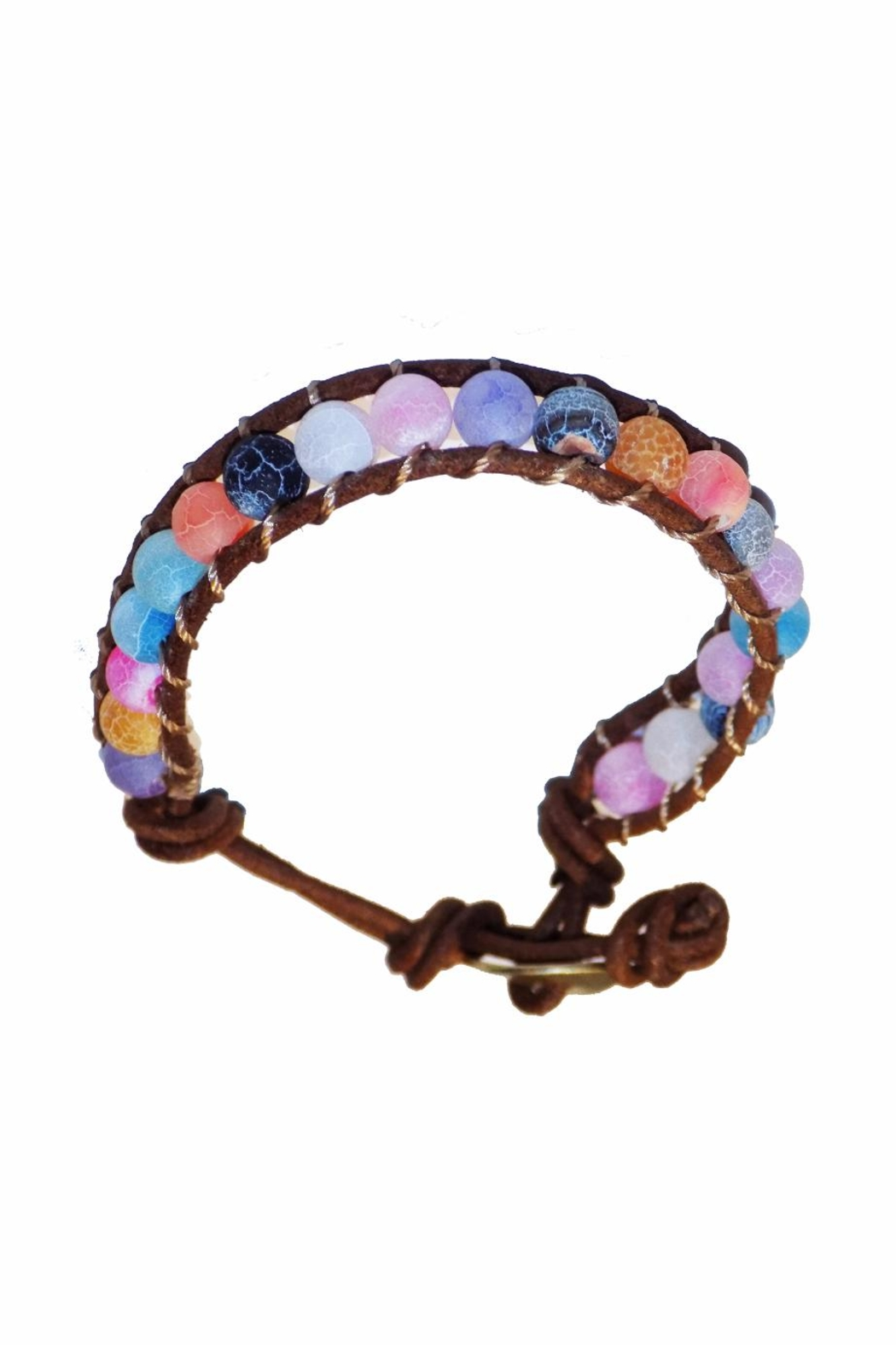 ALEXCINE Indian Glass-Bead Bracelet - Front Full Image