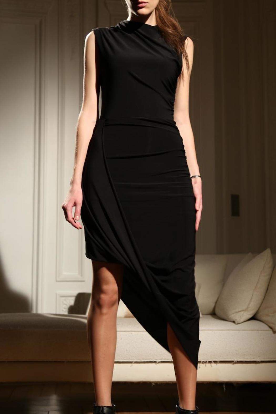Alexia Klein Black Draped Dress - Main Image