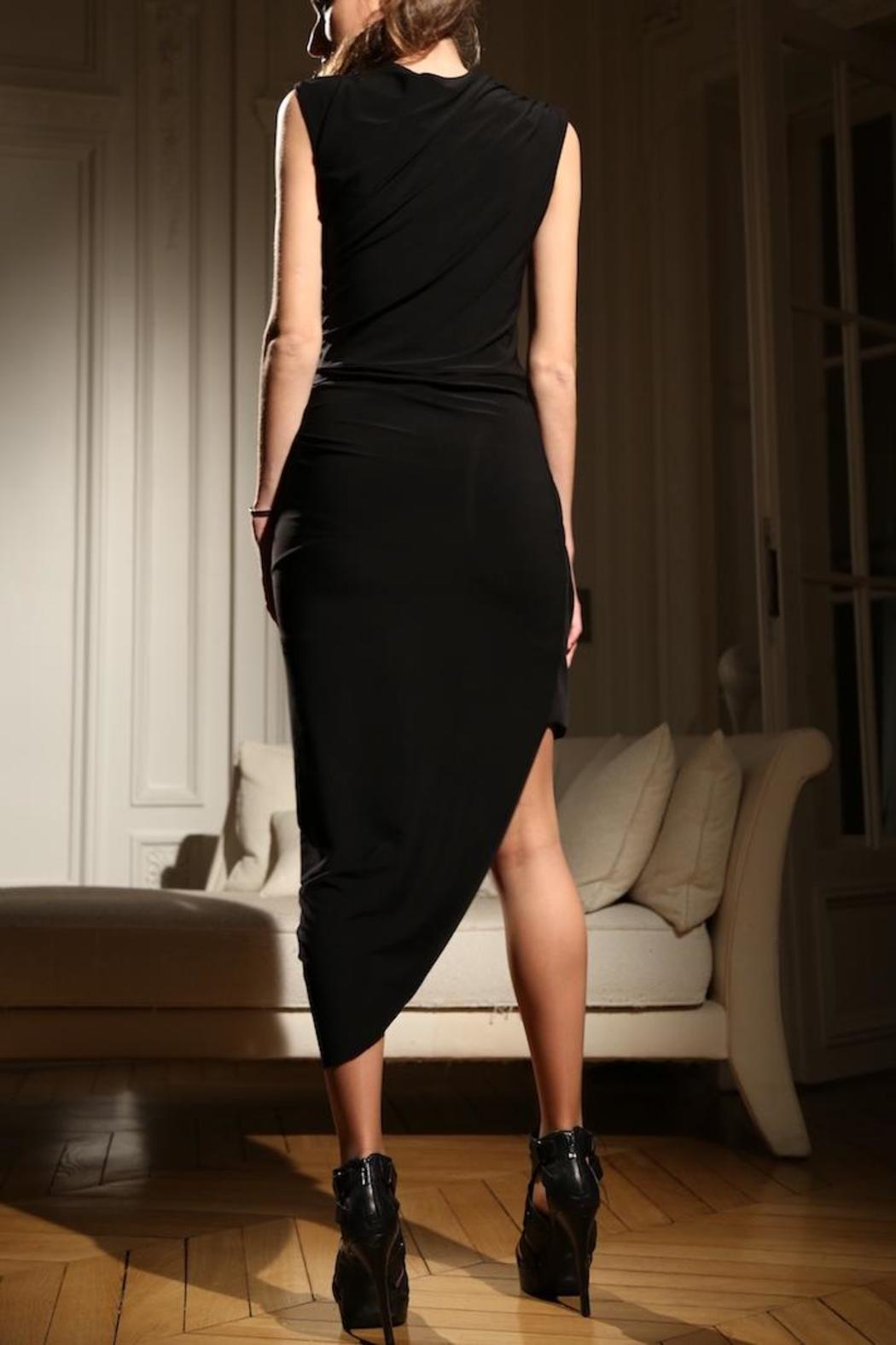Alexia Klein Black Draped Dress - Front Full Image