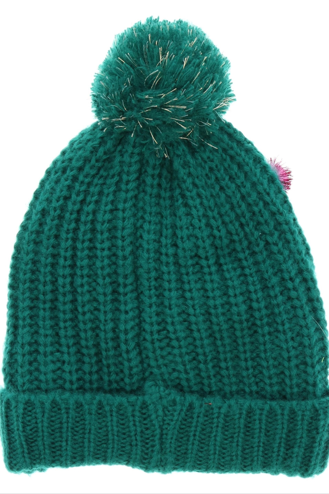 ALEXIS Pompom Holiday Hat - Front Full Image