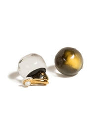 Alexis Bittar Button Clip-On Earrings - Front cropped