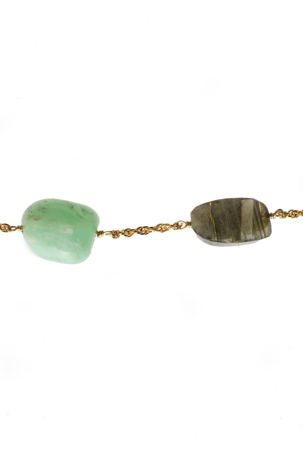 Alexis Bittar Chalcedony Labradorite Necklace - Back Cropped Image
