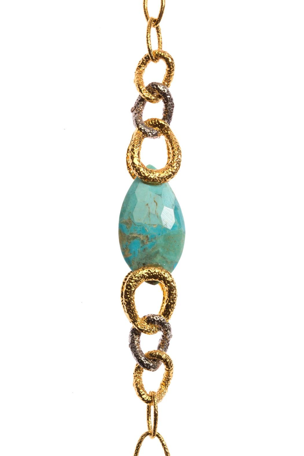 Alexis Bittar Labradorite Turquoise Necklace - Side Cropped Image