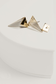 Alexis Bittar Pyramid Post Earrings - Front cropped