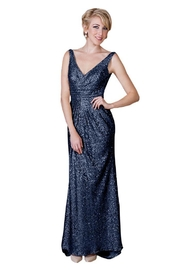 Alfred Angelo Navy Sequin - Front cropped