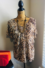 Alfred Dunner Leopard Print Top - Product Mini Image