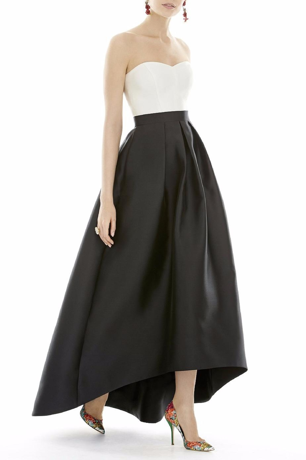 Alfred Sung Strapless High Low Dress - Main Image