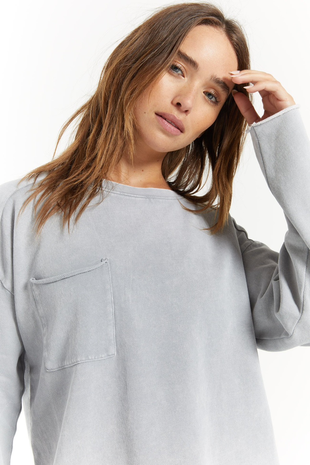 z supply Ali Washed Top - Front Full Image