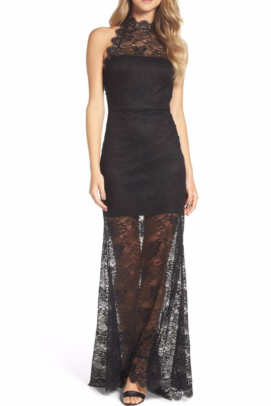 Ali & Jay Black Lace Gown - Main Image