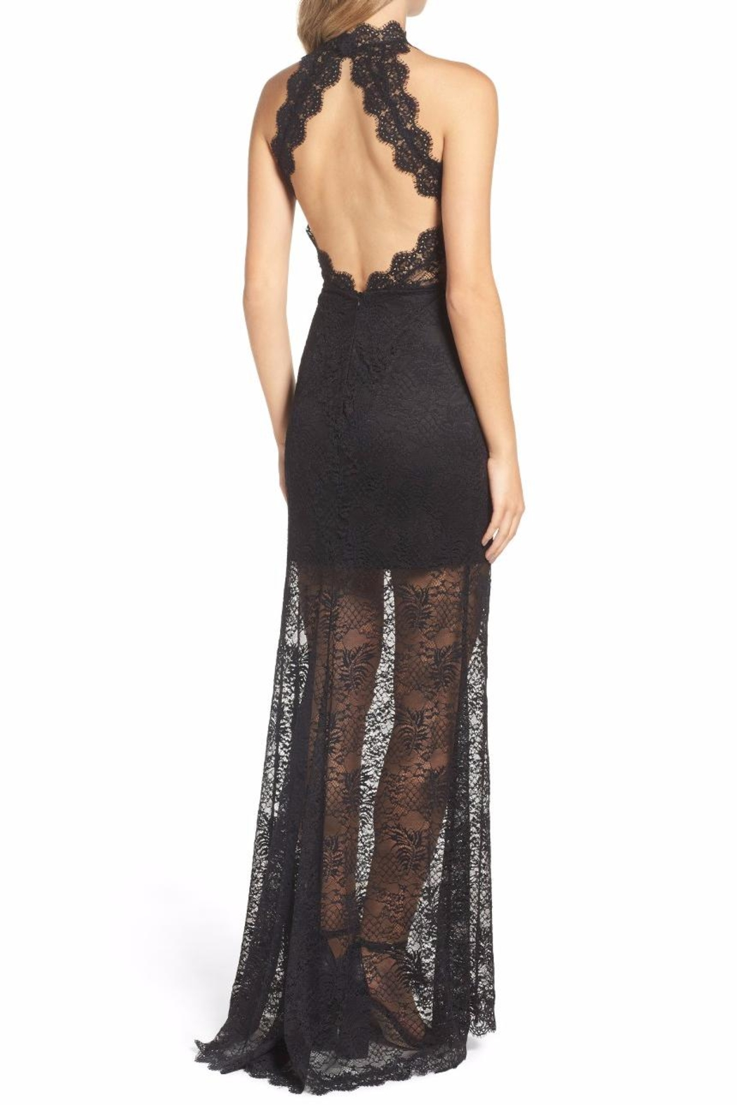 Ali & Jay Black Lace Gown - Front Full Image