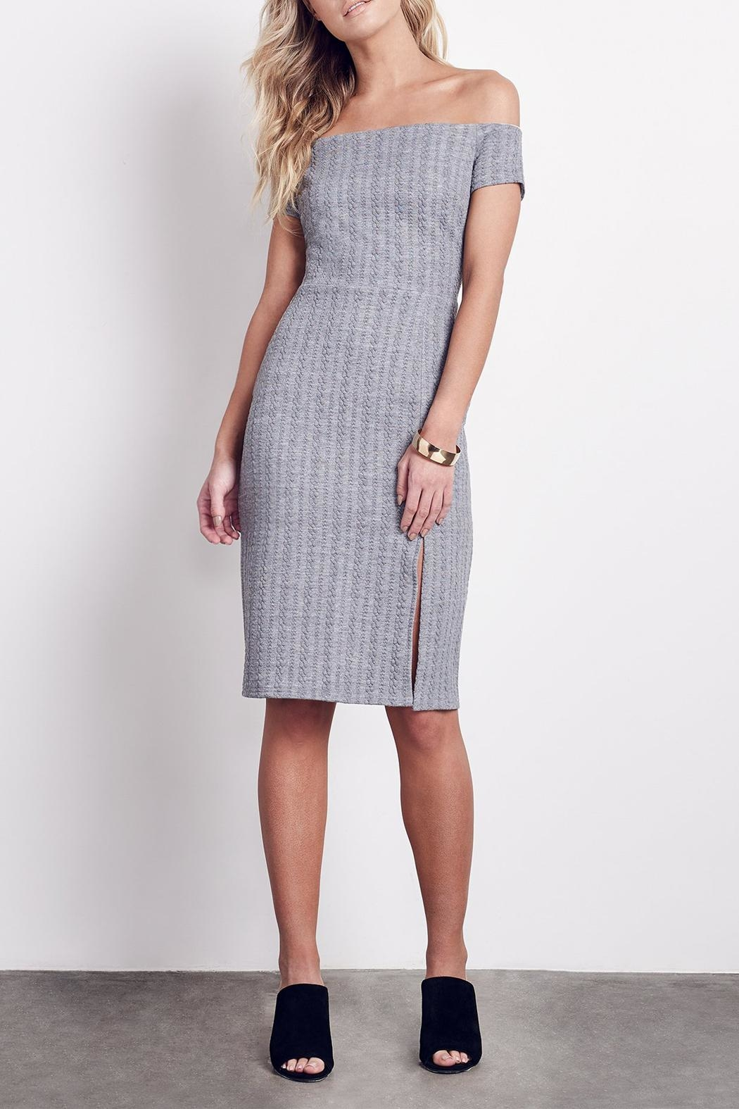Ali & Jay Side Slit Sheath Dress - Front Cropped Image
