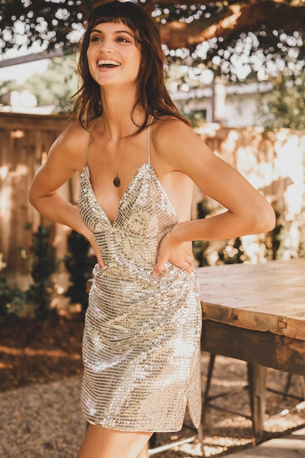 Saylor Aliannia Sequin Dress - Front Cropped Image