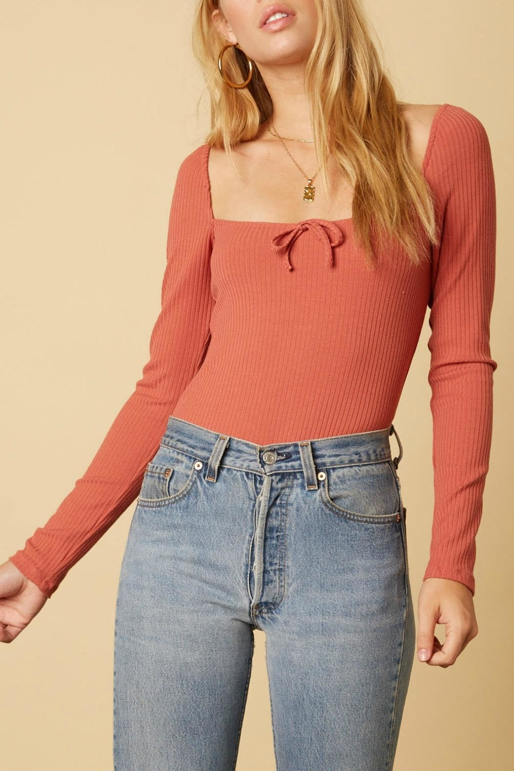 Cotton Candy  Alice Long Sleeve Top - Front Cropped Image