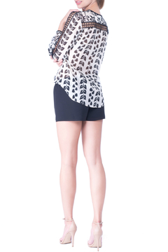 Atina Cristina Alice Printed Blouse with Lace Detail - Alternate List Image