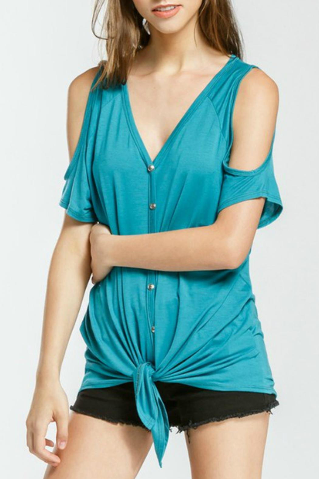 Cherish Alice Tie Top - Front Cropped Image