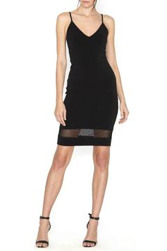 Alice + Olivia Cate Mesh-Insert Dress - Product List Image