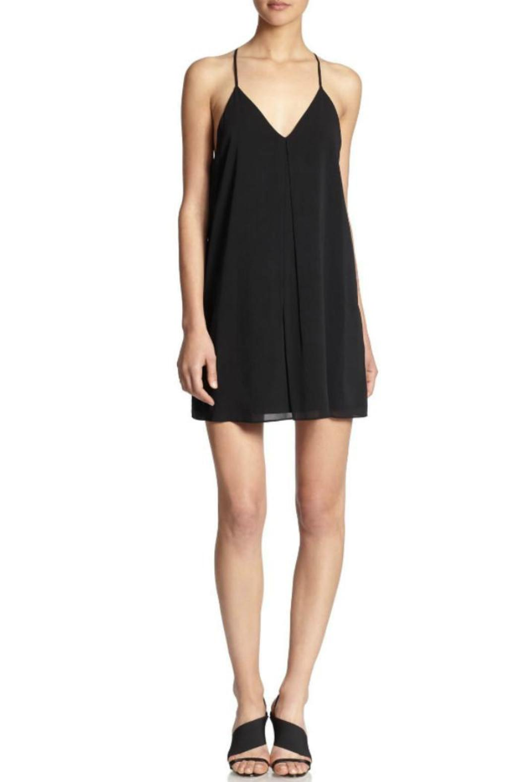 Alice + Olivia Fierra Dress Black - Front Cropped Image