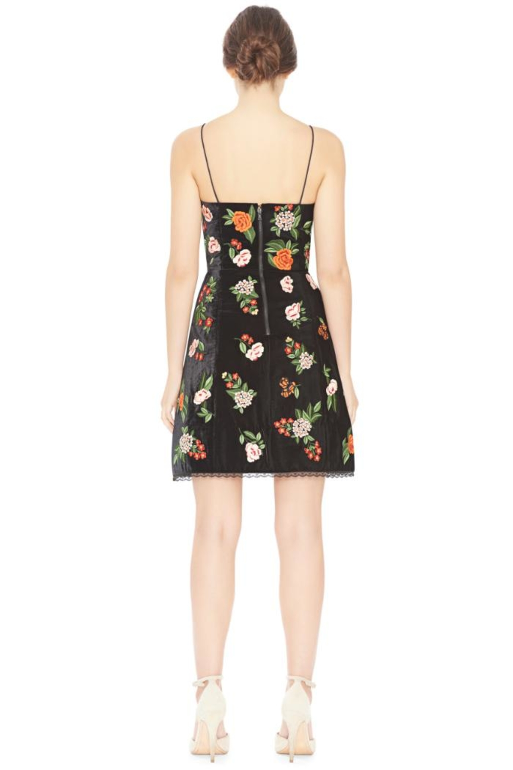 Alice + Olivia Launa Embroidered Dress - Front Full Image