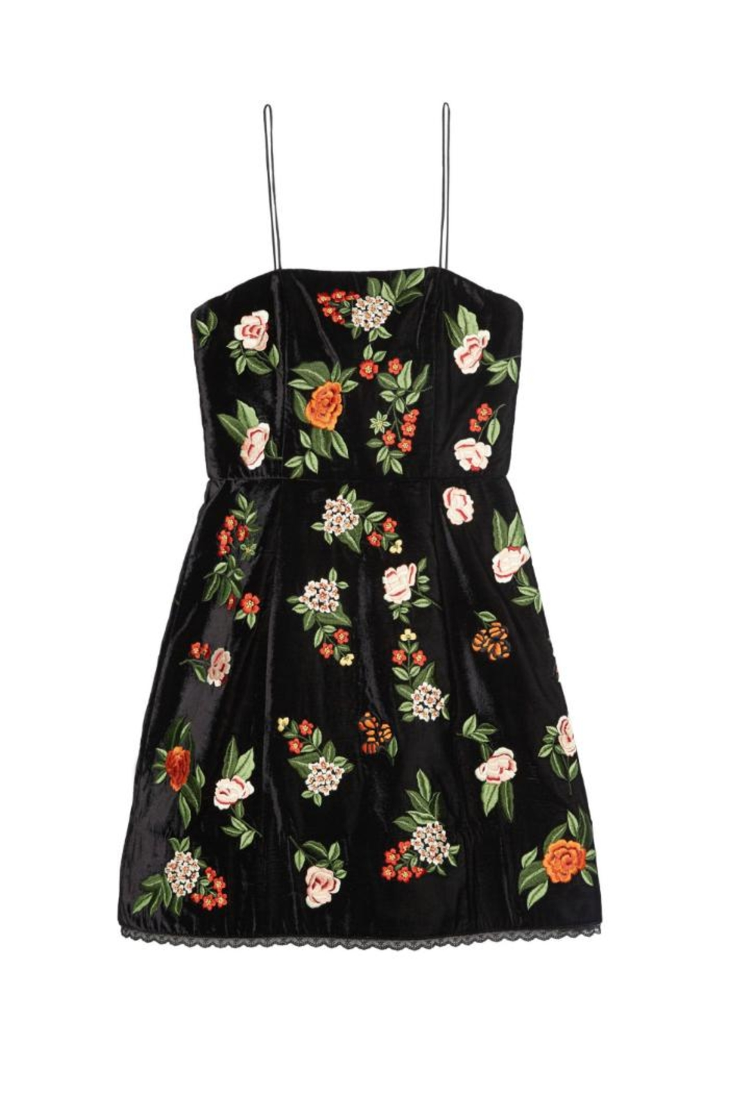 Alice + Olivia Launa Embroidered Dress - Side Cropped Image