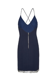 Alice + Olivia Navy Sleeveless Sheath Dress - Back cropped