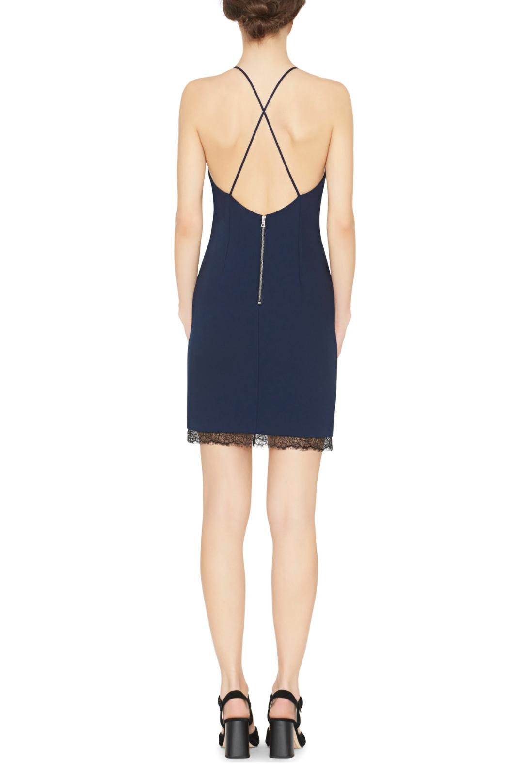 Alice + Olivia Navy Sleeveless Sheath Dress - Front Full Image