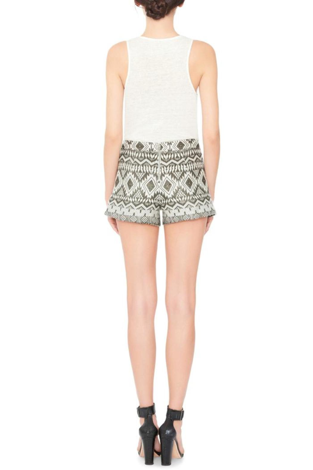 Alice + Olivia Marisa Embroidered Shorts - Front Full Image