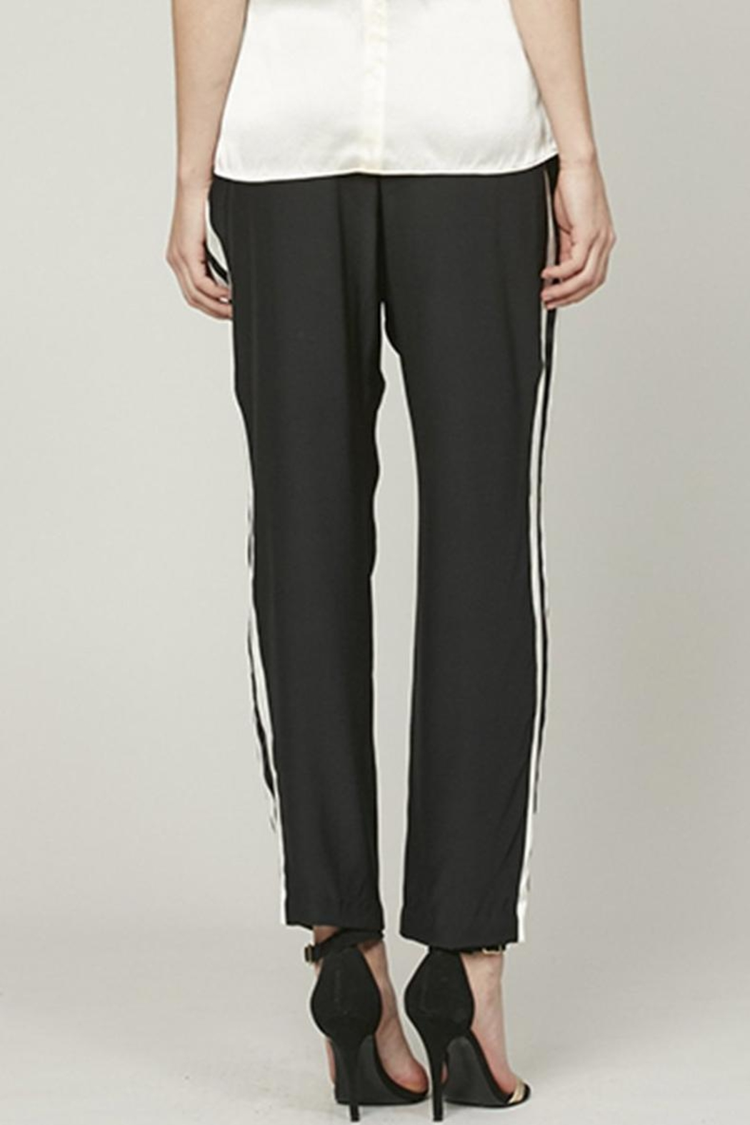 Alice + Trixie Silk Track Pant - Side Cropped Image