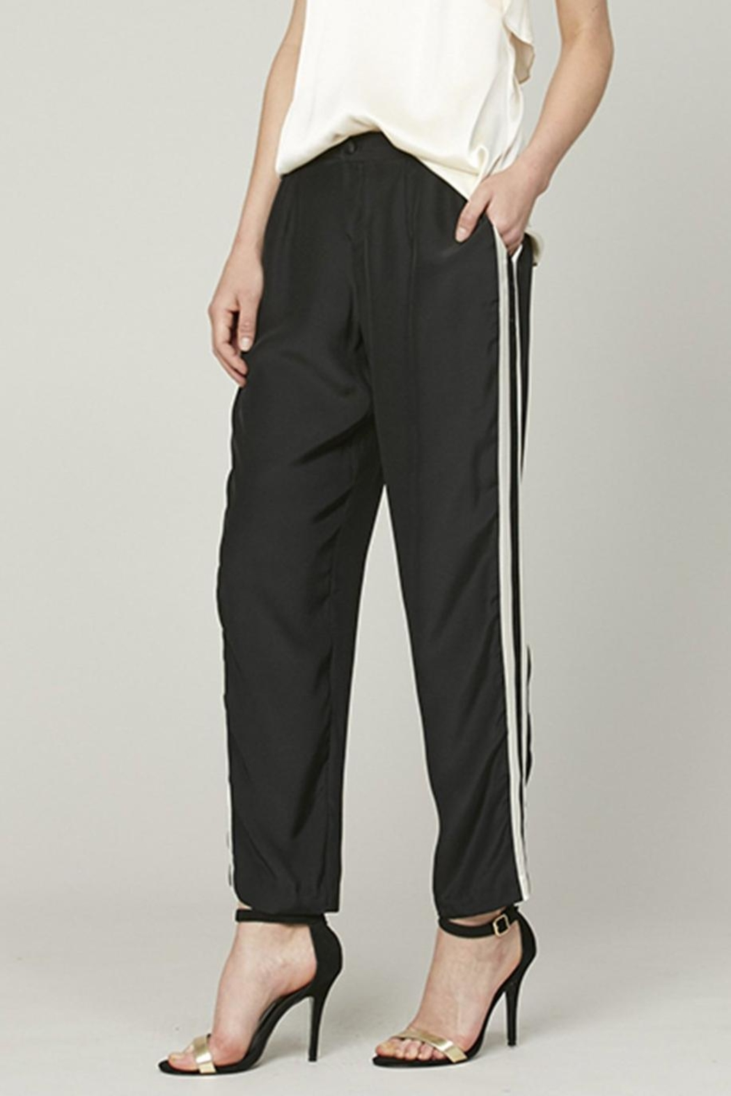 Alice + Trixie Silk Track Pant - Front Full Image