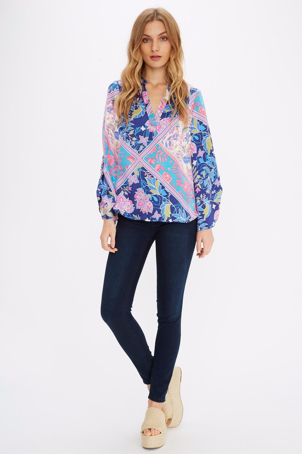 Alice + Trixie Vibrant Silk Blouse - Front Full Image
