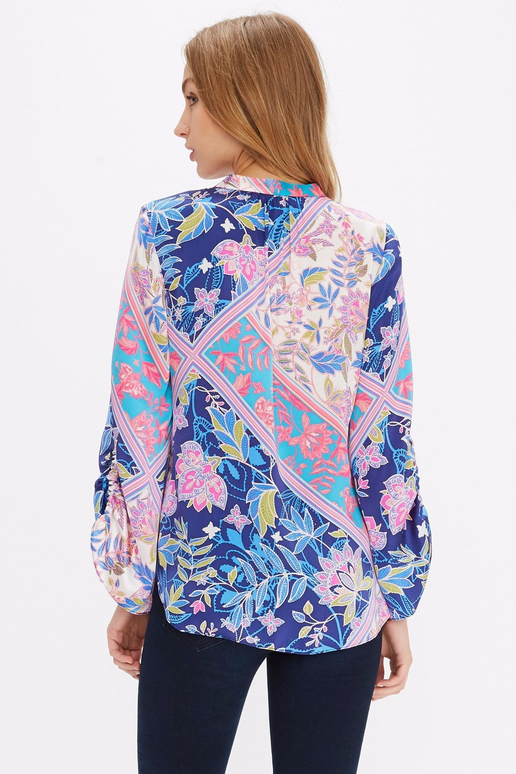 Alice + Trixie Vibrant Silk Blouse - Side Cropped Image