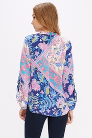 Alice + Trixie Vibrant Silk Blouse - Side cropped