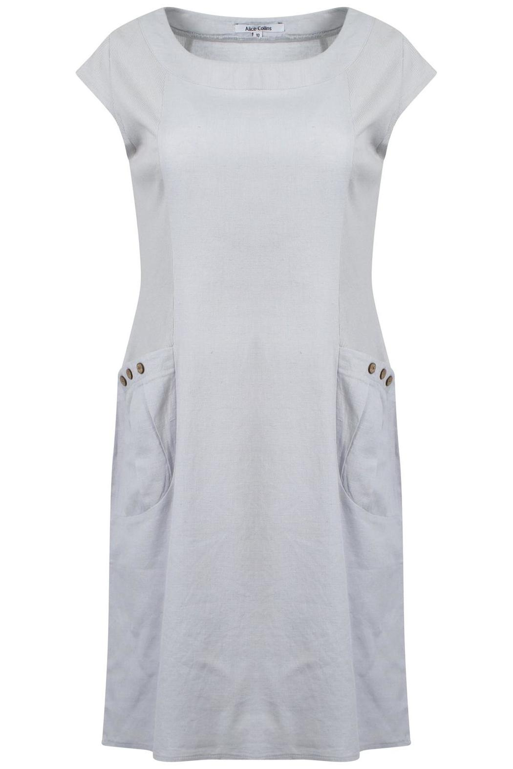 Alice Collins Linen Dress Grey From West Yorkshire By