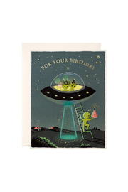 JooJoo Paper Aliens Birthday Card - Front cropped