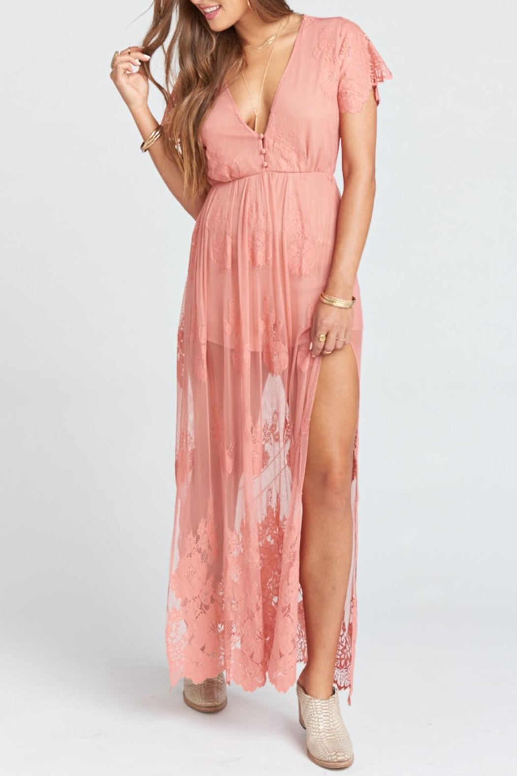 Show Me Your Mumu Alina Maxi Romper - Side Cropped Image